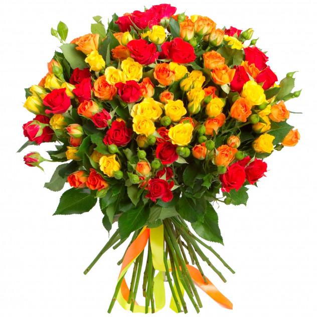 Букет из 25 кустовых роз.